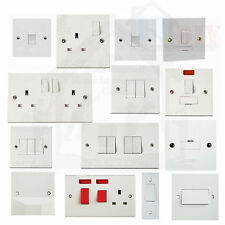 1 & 2 Way Switched, Unswitched, Neon, Fused, Light, Plug Sockets 1 & 2 Gang