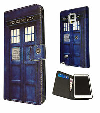 Doctor Who Tardis Samsung Galaxy S5 S5 Mini / Note 4 Case Flip Card Purse Cover