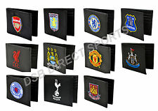 OFFICIAL FOOTBALL CLUB BLACK EMBROIDERED CREST LEATHER MONEY WALLET GIFT XMAS