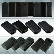 VERTICAL FLIP FAUX LEATHER COVER POUCH SKIN CASE FOR SAMSUNG GALAXY MINI S5570