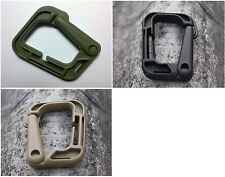 "1 x New High Quality 2"" Grimloc Carabiner Looploc D-Ring Plastic 3 Colors"