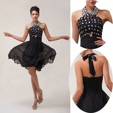 2014 Beaded Formal Evening Cocktail Graduation Short Prom Gown Party Women Dress