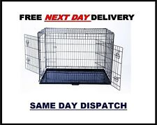 """DOG CAGES. DOG CRATES, METAL DOG CAGE, KENNEL, 24"""" TO 48"""" FOLD-ABLE PET CARRIER"""