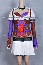 Batman Nurse Harley Quinn Costume Dress Skirt Red Purple Leather complete outfit