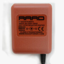 RAAD regulated power supply center negative minus tip DC 9V adapter guitar pedal