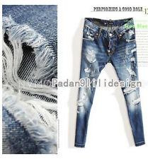 DSQUARED2 Womens Sexy Slim Loose Hole Sailor Thin Collapse pants Harlan Jeans