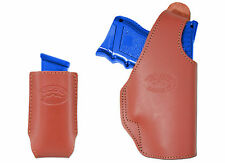 New Barsony Burgundy Leather OWB Belt Holster + Mag Pouch Ruger Comp 9mm 40 45
