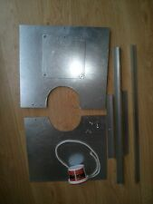 Stove chimney register plate, steel chimney closure board for wood burner