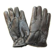 MENS BLACK REAL LEATHER WINTER WARM GLOVES DRIVING INSULATED LINER SALE! - K1B