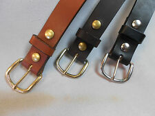 New USA Made Harness Leather Belt 1 1/4 Black, Dark Brown and Brown