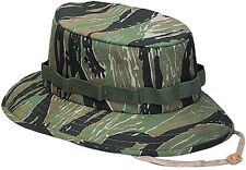 KIDS TIGER STRIPE CAMO Military Boonie Bucket Camping Hunting Jungle Hat 5539