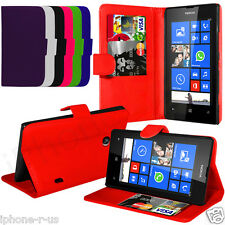 Flip Leather Stand Wallet Case Cover For Nokia Lumia 520 Free Screen Protector