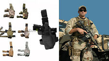 Multi-Color Tactical Army Pistol Gun Drop Right Leg Thigh Holster Holder fr 1911