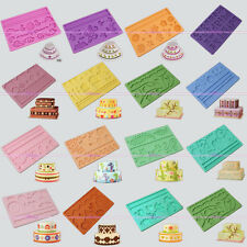 15 Model Silicone Fondant Cake Embossing Gum Paste Rose Bird Decorating Mold Mat