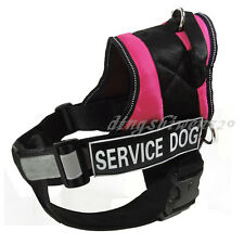Reflective Service Dog Harness Vest Padded Removable Chest Plate info card patch