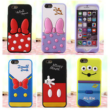 New 3D Cute Cartoon Disney Soft Silicone Back Case Cover for iPhone 6 Plus 5 5S