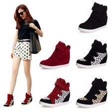 Women Wedges Sneakers Mid Calf Flats High Platform High Top shoes Ankle Boots