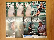 London Irish Rugby Programmes 2003 - 2013