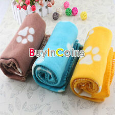 Soft Manmade Fleece Blanket Mat Bed Cover for Pet Dog Cat 3 Colors On Sale