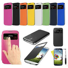 For Samsung GALAXY SIV S4 I9500 Luxury Slim Flip S-VIEW Smart Case Hard Cover