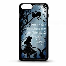 Alice in wonderland quote silhouette case cover for Iphone 4 4S 5 5s 6 6 plus