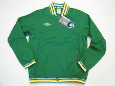 New Mens L Umbro New York Cosmos Anthem Sports Jacket Green/Yellow $100+