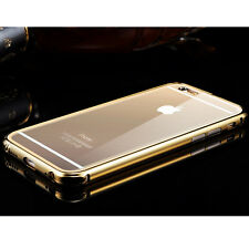 Hot Aluminum Metal Bumper Case Clear Back Cover for Apple iPhone 6 4.7 6+ Plus