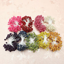 5mm Artificial Flower Stamen Double Glass Round Heads Pearlized Craft Cake Decor