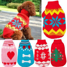 Stylish Comfortable Pet Dog Cat Wool Clothes Hoodie Sweater Knitwear Apparel New