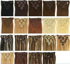 EXTENSIONS A CLIPS CHEVEUX RAIDE 100 % NATURELS REMY HAIR 38/46/51/56/60/66/28