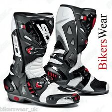 SIDI Vortice Air  Black / White  Sports Lorica Shock Absorbing Heel Boots