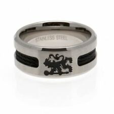 Chelsea FC Black Inlay Ring  Football Soccer EPL
