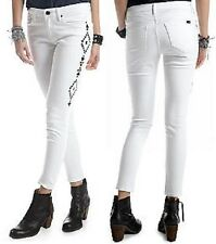 Chip & Pepper CALIFORNIA White Embroidered Side Ankle Stretch Skinny Jean - $68