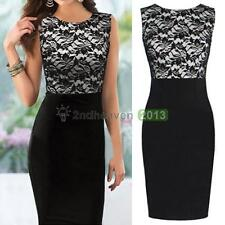Fashion Sexy Womens Lady Sleeveless Lace Party Evening Bodycon Cocktail Dress