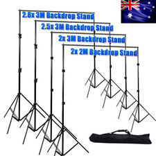 Photography Photo Muslin Cotton Background Backdrop Support Stand System Kit Set