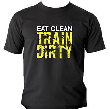 Train Dirty T-Shirts Weightlifting Bodybuilding Gym Workout Crossfit Kettlebell