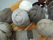 Naturally coloured West Australian Dreanee Wool Top Roving 200gm. Spin or Felt.