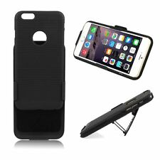 Black Hard Rugged Holster Case Belt Clip w/ Rotated Stand Cover Pouch For iPhone