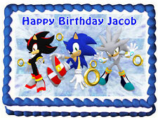 SONIC THE HEDGEHOG Edible image Cake topper