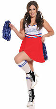 Cheer Leader Costume Womens 1X2X/3X4X Pom Poms Team Leader