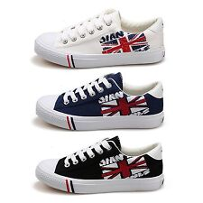 New Fashionable Rubber Toe Colorful Canvas Men Laced Up Sneaker Shoes Multi Size
