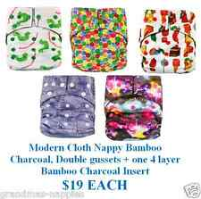 Modern Cloth Nappy Bamboo Charcoal & one 4 layer Bamboo Charcoal Insert