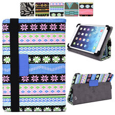 "B Tribal Canvas Adjustable Folding Folio Cover & Touch Guard fits 7"" Tablet-s"
