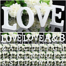 White Wooden Letter Alphabet Word Free Standing Wedding Party Home Decoration