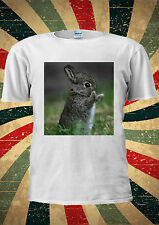 Cute Baby Rabbit Eating Animal Tumblr Instagram T Shirt Men Women Unisex 1481