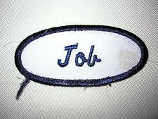 JOB  Old Skool Embroidered Sew On Work Uniform Patch.