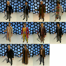 """DOCTOR WHO 11 DRS CLASSIC AND NEW SERIES 5"""" ACTION FIGURES LOOSE LOT COLLECTION"""