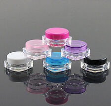 50pc 3ml Cosmetic Empty Jar Pots Eyeshadow Makeup Face Cream Lip Balm Container