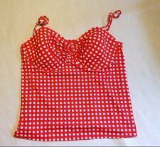 NWT J. CREW GRID DOT RUCHED UNDERWIRE SWING TOP a1567 $68 VFL TANKINI SWIM SUIT