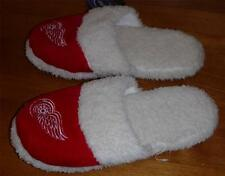 Womens DETROIT RED WINGS Slippers Size 5/6 7/8 9/10 11/12 NWT scuffs Slide On